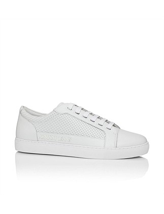 Perforated Leather Low Profile Sneaker