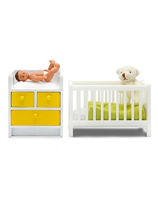 Toy Stockholm Cot/Nursing Table & Baby Set 2010