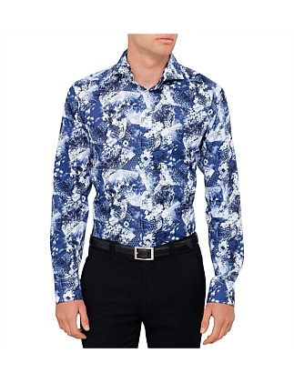 Floral Print Shirt Slim Fit