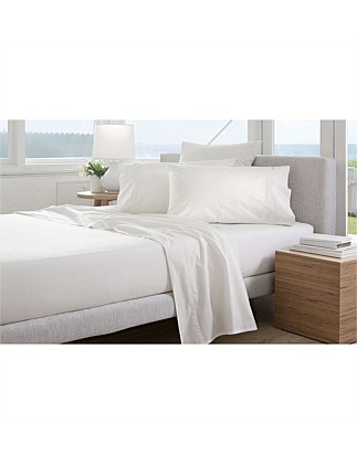 Classic Percale 300tc King Fitted Sheet-50cm