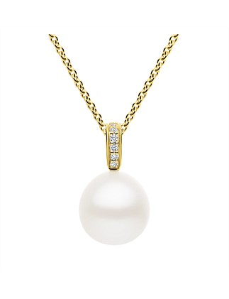 Hope Pearl Pendant with Diamonds