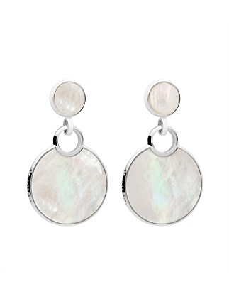 Reflection Drop Earrings, Mother of Pearl
