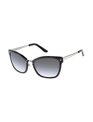 619ea02d88 GUESS WOMENS METAL CATSEYE - BLACK W. SPARKLES ...
