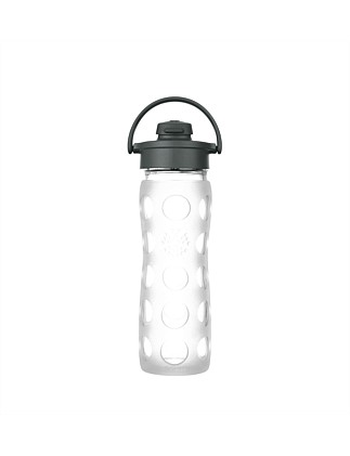 Lifefactory Glass Bottle With Flip Cap Clear 475ml