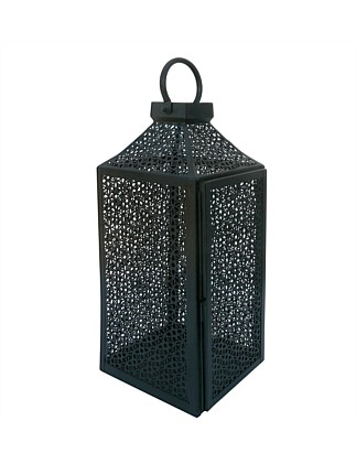 Perforated Black Large Lantern