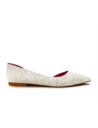 Allie Pointed Toe Dorsay Flat Shoes of Prey 12wOxIci0I
