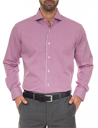 City Tailored Fit - Pure Cotton Easy Iron Check Shirt