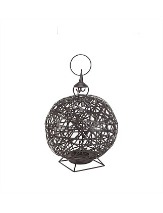 Round Brown Iron Lantern