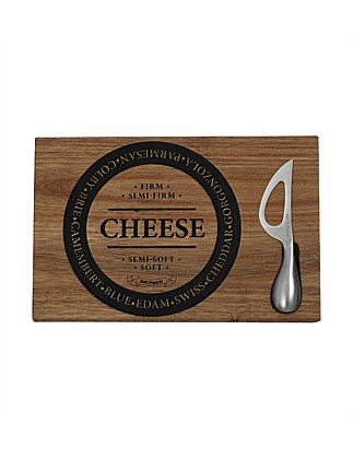 Fromage Wooden Cheese Board & Stainless Steel Knife