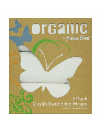 Organic Cotton Muslin Wraps 3 Pack