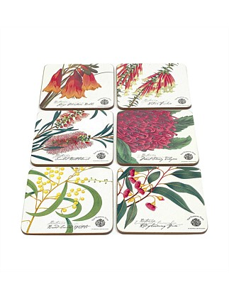 Botanic Coasters Set of 6 Assorted