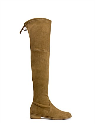 f82775740dee Lowland Flat Over The Knee Boot Special Offer. Basket Brown Suede  Dovetail  Suede  Slate Suede. Stuart Weitzman