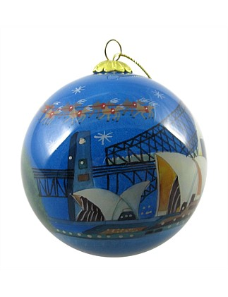 Orn-Bauble Santa Harbour Multi
