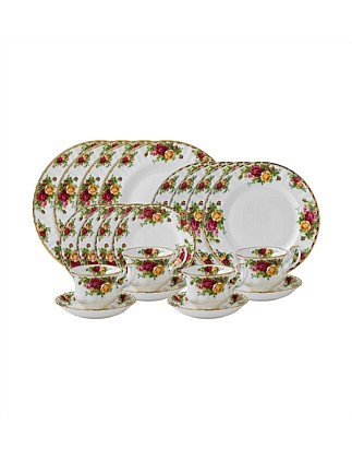 Old Country Roses 20 Piece Dinner Set