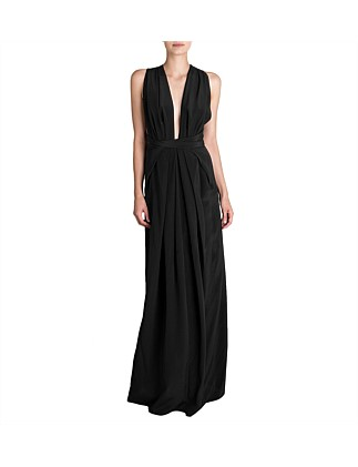 Black Silk Cdc Ascendent Gown