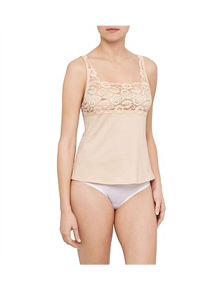 Cotton & Lace Camisole