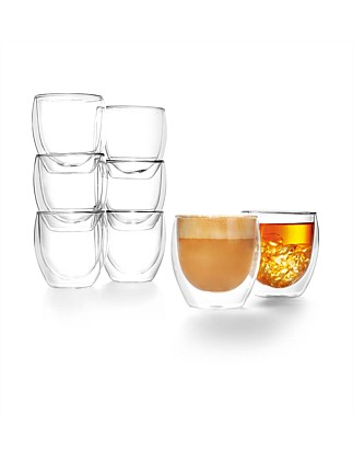 Pavina Double Wall Glasses 250ml Set Of 8