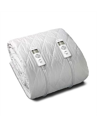Quilted Fitted Heated Blanket - Queen