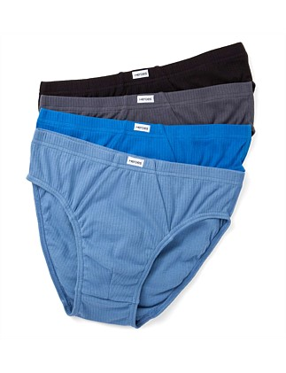 Cotton Interlock Brief Pack of Four