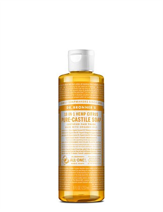 Liquid Castile Soap 237ml - Citrus Orange