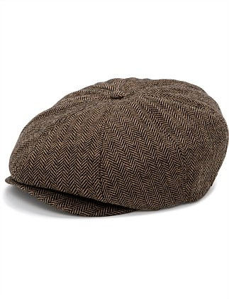 8-Piece Herringbone Cap