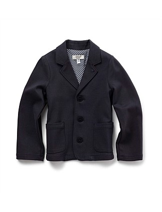Jersey Jacket With Elbow Patches