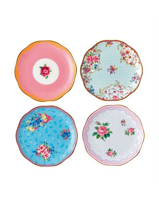 Candy Collection Set 4 Plates 10cm