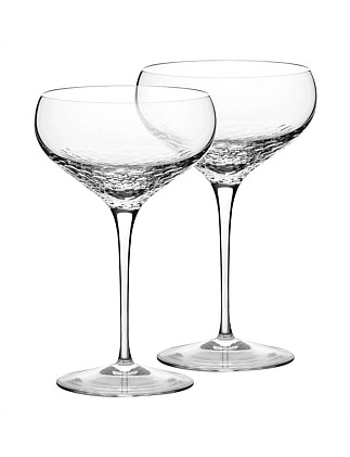 Vera Wang Wedgwood Sequin Crystal Champagne Saucer Pair