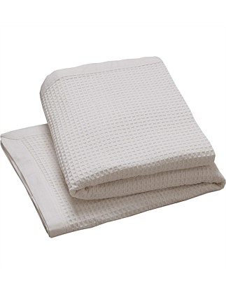 Cotton Waffle Blanket Super King
