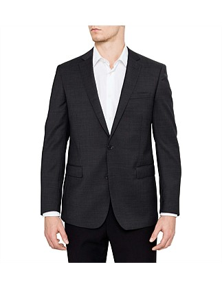 WOOL SHARKSKIN PLAIN NESTED SUIT