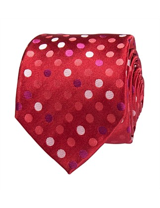 Multi Coloured Spot Tie