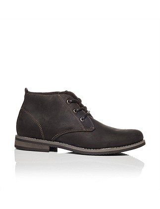 Revel-Mod Casual Crazy Horse Leather Chukka Boot