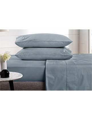 Classic Percale Double Fitted Sheet