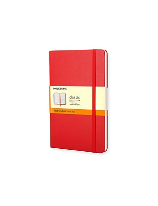 Classic Hard Cover Ruled Notebook Pocket
