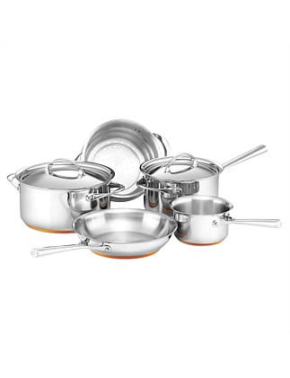 Per Vita Stainless Steel 5 Piece Cookware Set