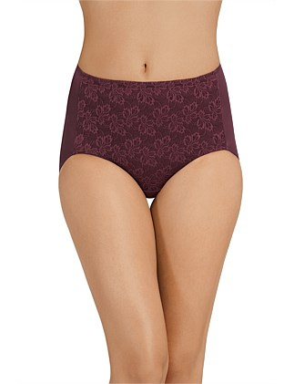 NO RIDE UP LACE FULL BRIEF
