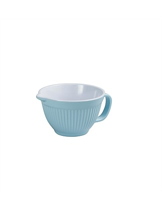 Two-Tone Ribbed Bowl With Pouring Lip And Handle 1l