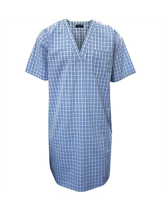Yarn Dyed Short Sleeve Nightshirt