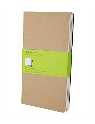 Cahier Set Of 3 Unruled Notebook, Large