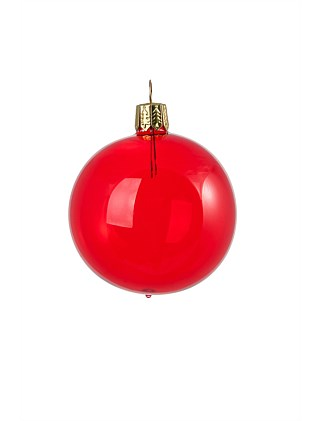 Clear Red Bauble - 10cm