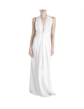 White Silk Cdc Ascendent Gown