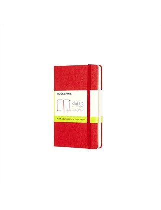 Classic Hard Cover Unruled Notebook Pocket