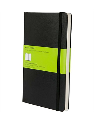 Classic Hardcover Unruled Notebook Large