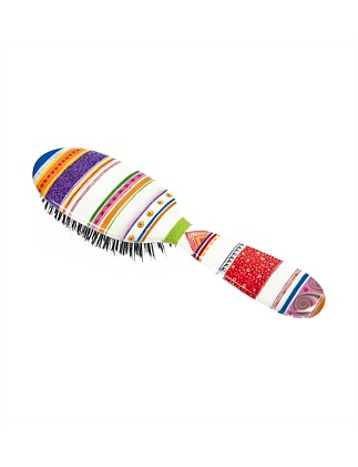 Boar Bristle Small Hair Brush - Folio Stripes