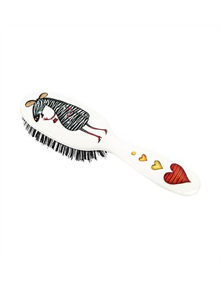 Boar Bristle Small Hair Brush - Zebra