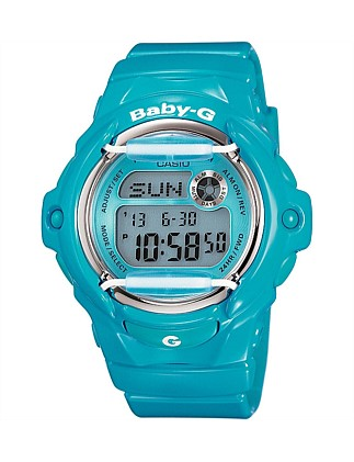 Baby-G Digital Series Blue With Face Guard