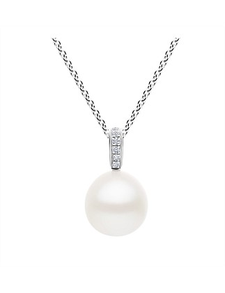 Hope Pearl Pendant with Diamond