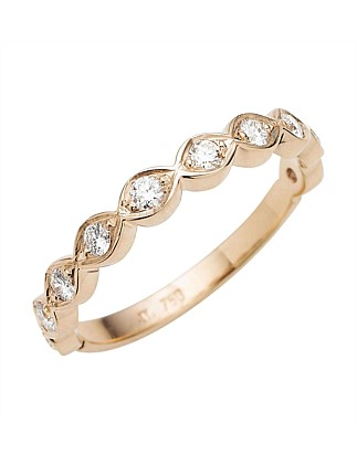 18ct Rose Gold Diamond Mini Cienega Band