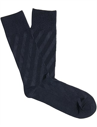 Diagonal Cotton Sock