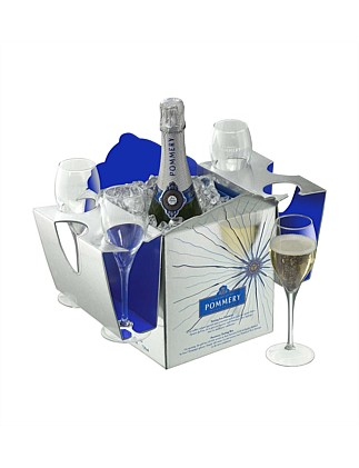 Pommery Apanage Non-Vintage Tasting Box With 4 Flutes